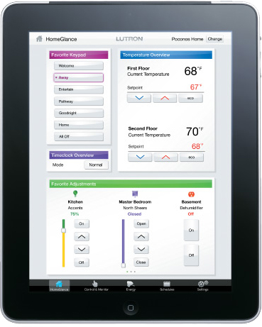 Lutron Intelligent Lighting App for iPad